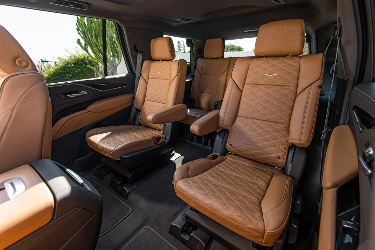 The new 2021 Escalade has second row sliding seats that allow fo