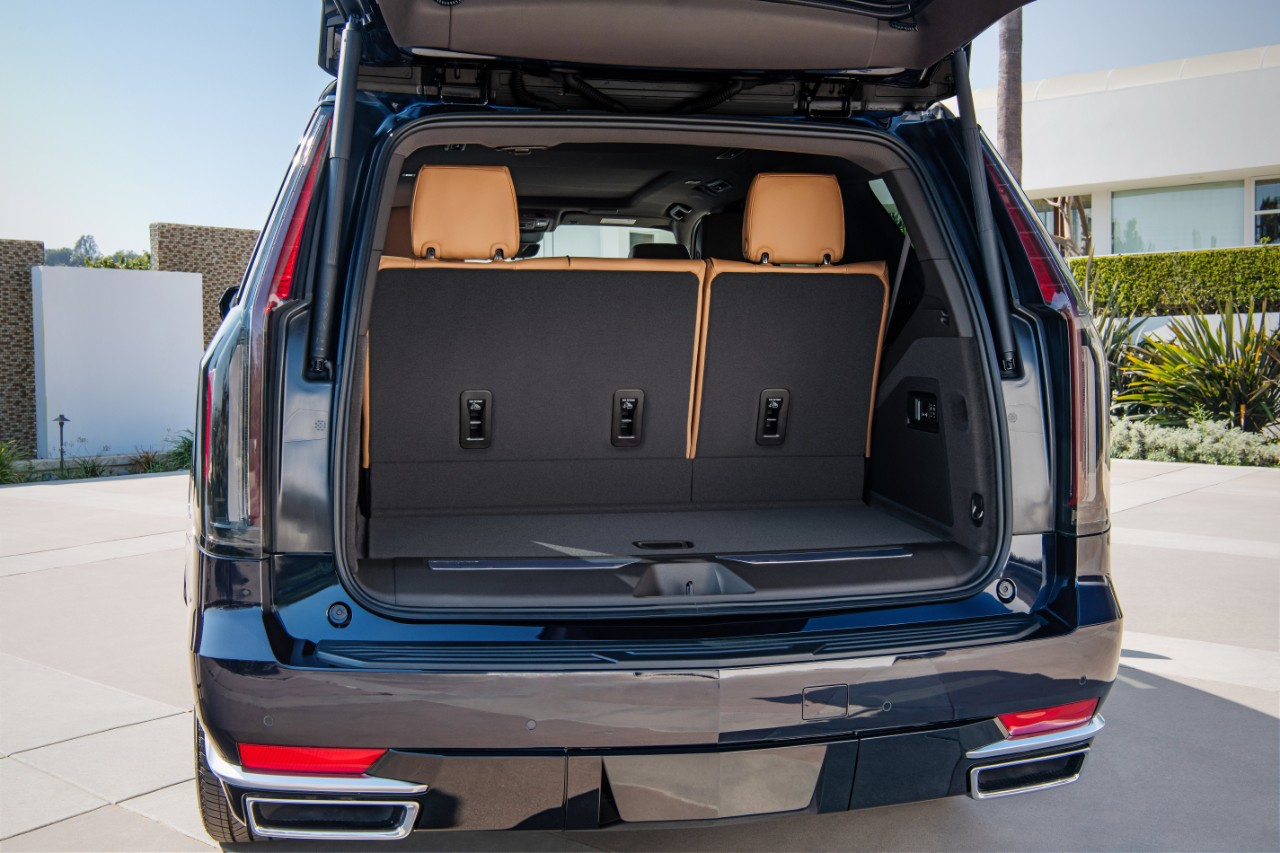 The new 2021 Escalade has 67.8% more cargo space behind the thir